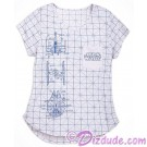 Disney Star Wars Ladies V-Neck Blueprint T-Shirt (Tshirt, T shirt or Tee) © Dizdude.com