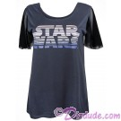 Star Wars Title Logo Mesh Sleeve Ladies T-Shirt (Tshirt, T shirt or Tee) ~ Disney SOLO A Star Wars Story © Dizdude.com