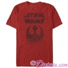 Star Wars: The Last Jedi Distressed Rebel Logo Adult T-Shirt (Tshirt, T shirt or Tee) © Dizdude.com