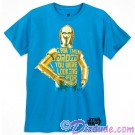 Disney Star Wars C-3PO Droid Companion Adult T-Shirt (Tshirt, T shirt or Tee) © Dizdude.com