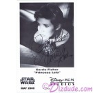 Carrie Fisher Presigned Official Star Wars Weekends 2000 Celebrity Collector Photo © Dizdude.com