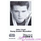 Jake Lloyd who played Young Anakin Skywalker Presigned Official Star Wars Weekends 2006 Celebrity Collector Photo © Dizdude.com
