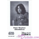 Peter Mayhew who played Chewbacca  Presigned Official Star Wars Weekends 2006 Celebrity Collector Photo © Dizdude.com