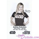 Ashley Eckstein the voice of Ahsoka Tano Presigned Official Star Wars Weekends 2010 Celebrity Collector Photo © Dizdude.com