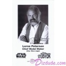 Lorne Peterson Star Wars Cheif Model Maker Presigned Official Star Wars Weekends 2010 Celebrity Collector Photo © Dizdude.com