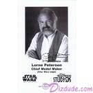 Lorne Peterson Star Wars Cheif Model Maker Presigned Official Star Wars Weekends 2010 Celebrity Collector Photo © Dizdude.com