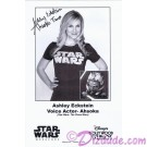 Ashley Eckstein the voice of Ahsoka Tano Presigned Official Star Wars Weekends 2011 Celebrity Collector Photo © Dizdude.com