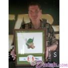 """Tom Kane """"The Voice of Yoda"""" Holding this beautiful """"Stitch as Yoda"""" Nr 16 illustration June 10, 2011 at Star Wars Weekends ~ © DIZDUDE.com"""