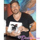Ray Park holding the RARE Autographed by Ray Park (Darth Maul) Disney Star Wars Donald as Darth Maul Bust LE 3000 Individually Numbered #0429 © Dizdude.com