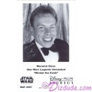 Warwick Davis who played The Ewok Wicket W. Warrick Presigned Official Star Wars Weekends 2001 Celebrity Collector Photo © Dizdude.com