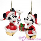 Disney Turn of the Century Mickey and Minnie Bell Set Christmas Ornaments © Dizdude.com