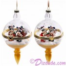 Disney Turn of the Century Mickey and Minnie Christmas Hinged Ornament © Dizdude.com