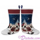 Disney Turn of the Century Mickey and Minnie Kissing Christmas Stocking © Dizdude.com
