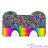 Mickey Mouse Rainbow Sequined Wallet by Loungefly - Disney Parks © Dizdude.com